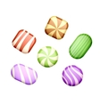 Sweets on white vector image vector image