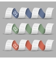 Three numbered ribbons banners vector image vector image