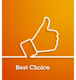 Thumb up paper sign vector image vector image