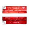 valentine day sale and gift voucher template with vector image vector image