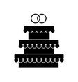 wedding cake with ring vector image