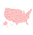 wedding people collage map of usa territories vector image vector image
