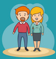 woman and man design vector image vector image