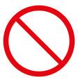blank ban vector image