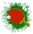 Red Tennis Racket and Plastic Ball vector image