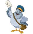 carrier pigeon cartoon vector image