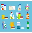 hygiene and cleaning products icons vector image