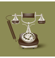 vintage phone on green vector image