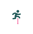 Jumping Icon vector image