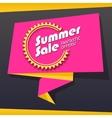 Summer sale origami banner vector image