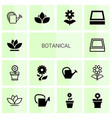 14 botanical icons vector image vector image