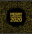 2020 merry christmas background vector image vector image