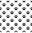 animal paw seamless gray pattern vector image vector image
