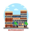 Around the clock supermarket outdoor exterior vector image vector image