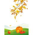 autumn vertical scene vector image vector image