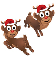 Baby Rudolph The Reindeer Jumping vector image vector image