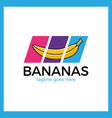 banana slash logo vector image vector image
