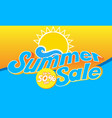 banner summer sale 50 off image vector image vector image
