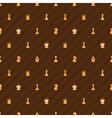 Beige chess icons on brown background seamless vector image