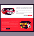 black friday sale off promo stickers advertisings vector image vector image