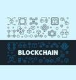 Blockchain concept banners set block chain