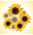 bouquet with sunflowers vector image vector image