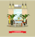 canteen in flat style vector image vector image