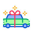 car present gift icon outline vector image