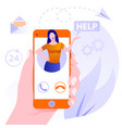customer support concept concept customer and vector image