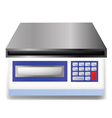 Digital weighing scale vector image