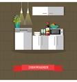 dishwasher kitchen vector image vector image