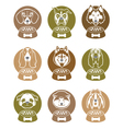 dog food labels set vector image