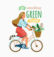 ecology poster for eco friendly lifestyle stylish vector image