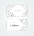 engineering business card engineering drawings vector image vector image