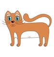 funny cute red cat with vector image