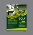 golf tournament flyer design template vector image vector image