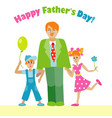happy fathers day flyerdesign vector image vector image