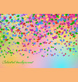 holiday background with confetti vector image vector image