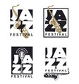 jazz festival poster set vector image