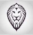 lion logo icon design vector image vector image