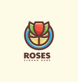 logo roses simple mascot style vector image