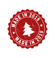 made in 2019 grunge stamp seal with fir-tree vector image vector image