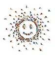 many people sign emoji vector image