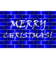 merry christmas - white and blue vector image vector image