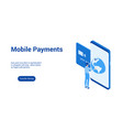 mobile payments 3d template 2 vector image