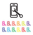 mobile services icon vector image