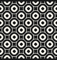 monochrome texture with circles rings vector image vector image