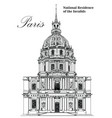 national residence of the invalids- hand drawing vector image vector image