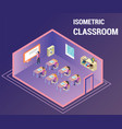 people studying in a class room isometric artwork vector image