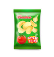 potato chips package with tomatoes isolated vector image